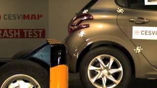 Crash Test trasero Peugeot 208 en CESVIMAP