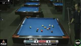 Victorian Open 8 Ball 2012 Semi Final Louis Condo V Vincent Goh