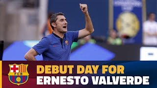 The MetLife Stadium in East Rutherford (New Jersey) was the venue for Ernesto Valverde's first game as FC Barcelona manager.