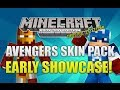"""Minecraft Xbox 360: Marvel Avengers Skin Pack"" Early Showcase! (NEW SKINS!)"