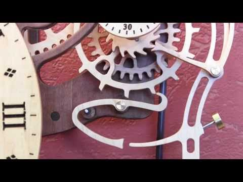 Brian Law - Clock 22 again incorporates the Woodenclocks Gravity Escapement. This time the design has been simplified, by removing the 6 legged Catch and engaging the Tr...