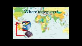 Registration of Filipinos Abroad for purposes of AbsenteeVoting