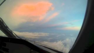 Stormy Dusk Approach Into Newark - In A Foreign Sky