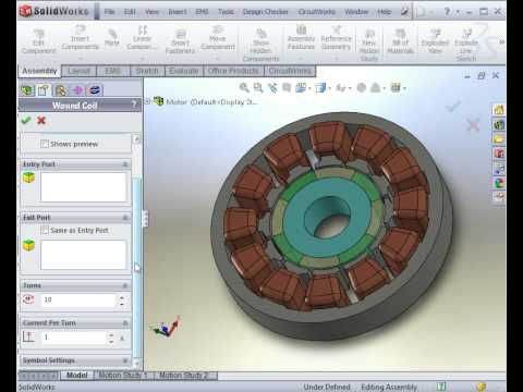 Magnetostatic Analysis of a DC Motor 1/2