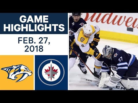 Video: NHL Game Highlights | Predators vs. Jets - Feb. 27, 2018