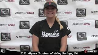2020 Alyssa Urquhart Softball Skills Video