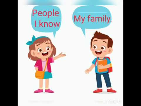 2 сынып. People I know.(My family)