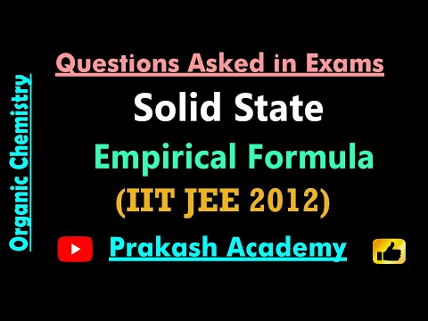 IIT JEE 2012 Frage 21 Solid-State-