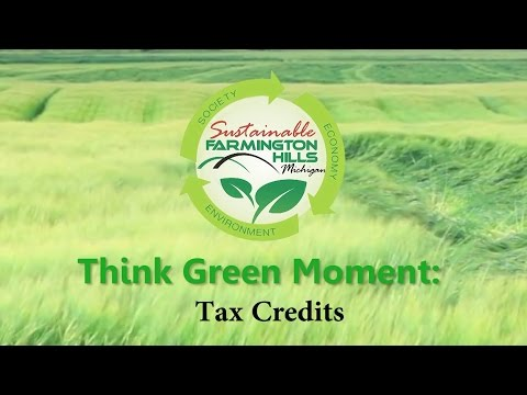 Think Green Moment: Tax Credits