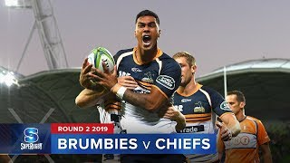 Brumbies v Chiefs Rd.2 2019 Super rugby video highlights | Super Rugby Video Highlights