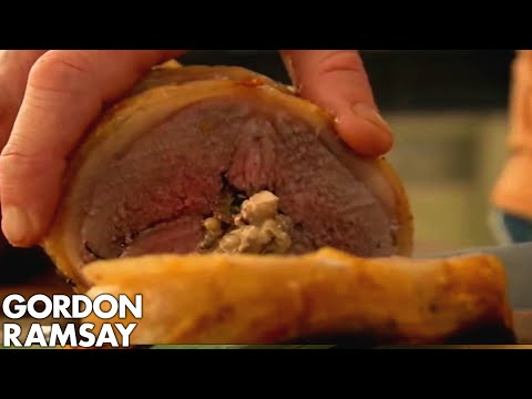 Stuffed Lamb With Spinach & Pine Nuts - Gordon Ramsay