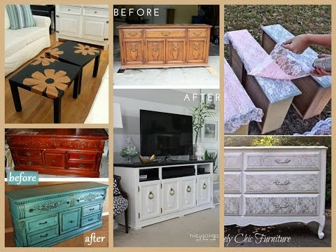 DIY Furniture Makeovers Ideas - Home Decor Inspiration (видео)