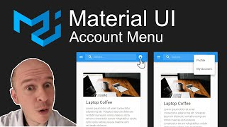 How to create an Account Menu in Material UI