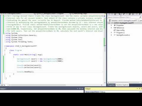 C# Programming Challenge 10.5 Savings-Account Class (OPP Principles)