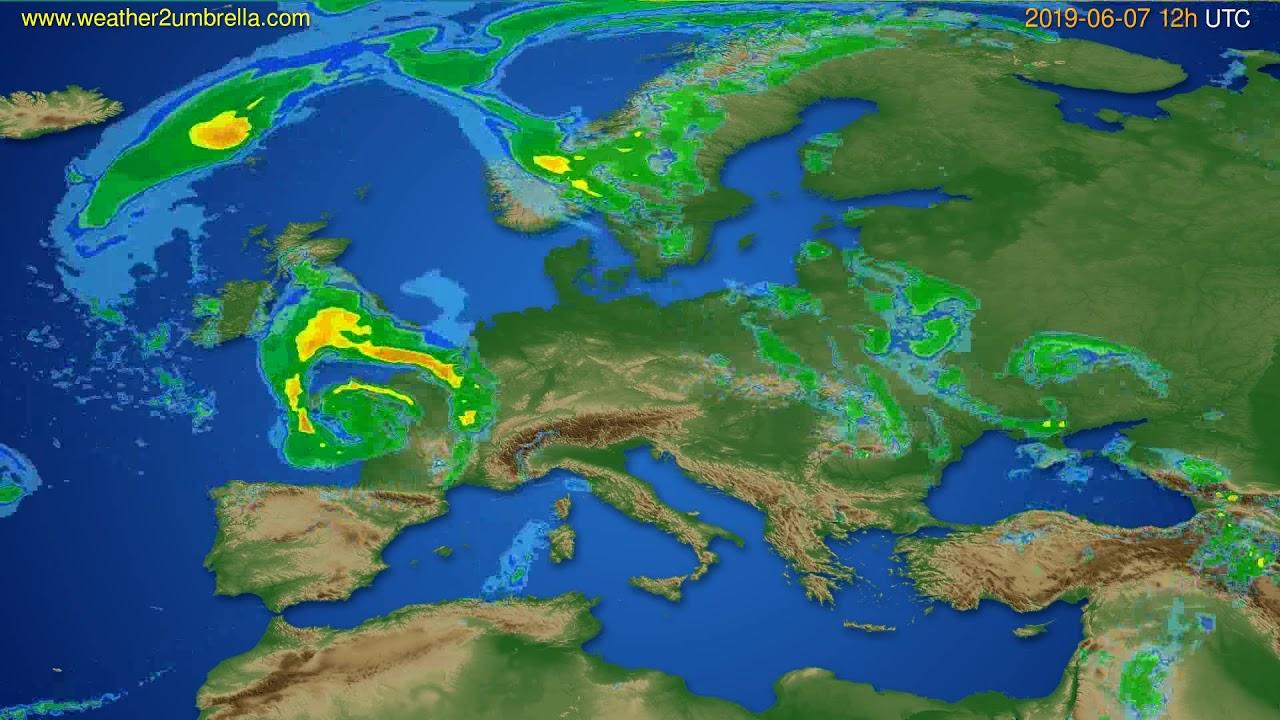Radar forecast Europe // modelrun: 00h UTC 2019-06-07