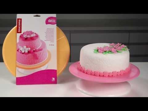 Видео Аксессуары для выпечки Tescoma Вращающаяся подставка для торта DELICIA DECO 29 см Tescoma 633110