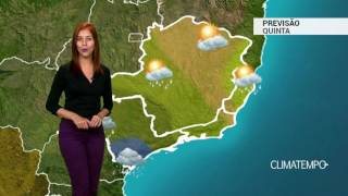 Boletim de previsão do tempo contendo informações sobre as imagens de satélite, previsão, temperatura mínima e máxima...