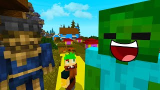 BABY ZOMBIE In OZ Land - MINECRAFT STEVE AND BABY ZOMBIE [66]