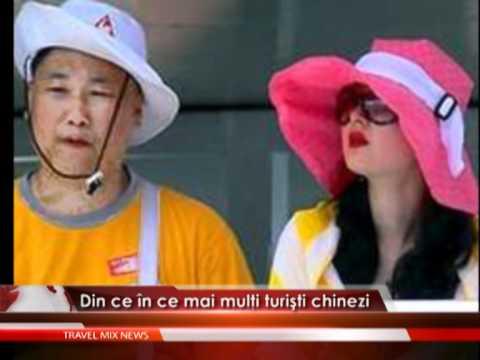 Din ce în ce mai mulţi turişti chinezi – VIDEO