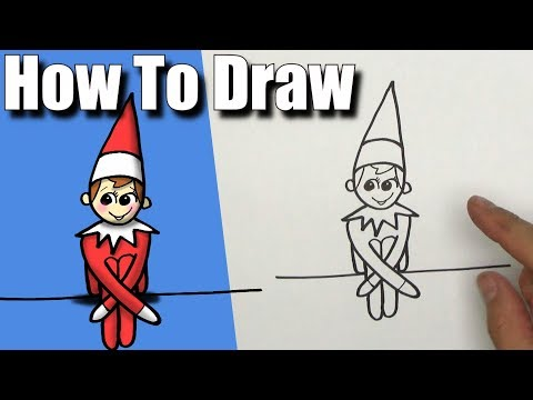 how to draw elf on the shelf easy step by step