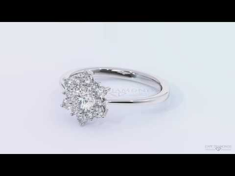 Top Diamond Engagement Rings South Africa - The Snowflake Halo Diamond Ring in White Gold™