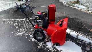 10. Ariens Deluxe 28 SHO first start after summer storage!  Will it start on the first pull?