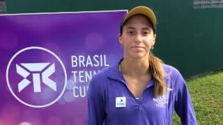 Luisa Stefani analisa condições do Brasil Tennis Cup