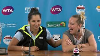 Press Conference with the Women's Doubles Champions Bethanie Mattek-Sands and Sania Mirza after their straight sets victory