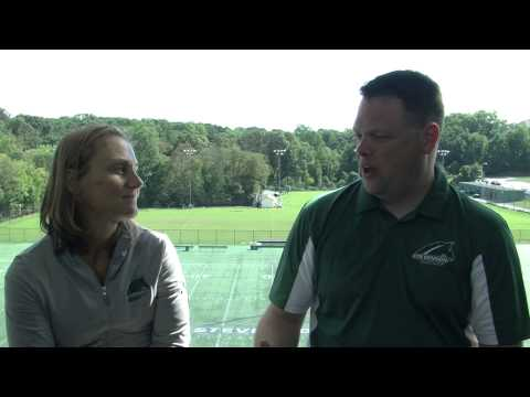 Coach Laurel Martin talks about being halfway through the season