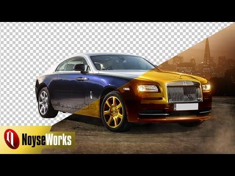Change a cars color into gold via Photoshop