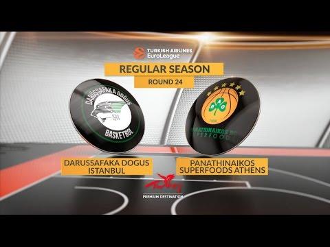 EuroLeague Highlights RS Round 24: Darussafaka Dogus Istanbul 77-72 Panathinaikos Superfoods Athens