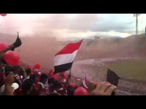 Tifo de la barra del Caracas FC vs Zamora - Los Demonios Rojos - Caracas