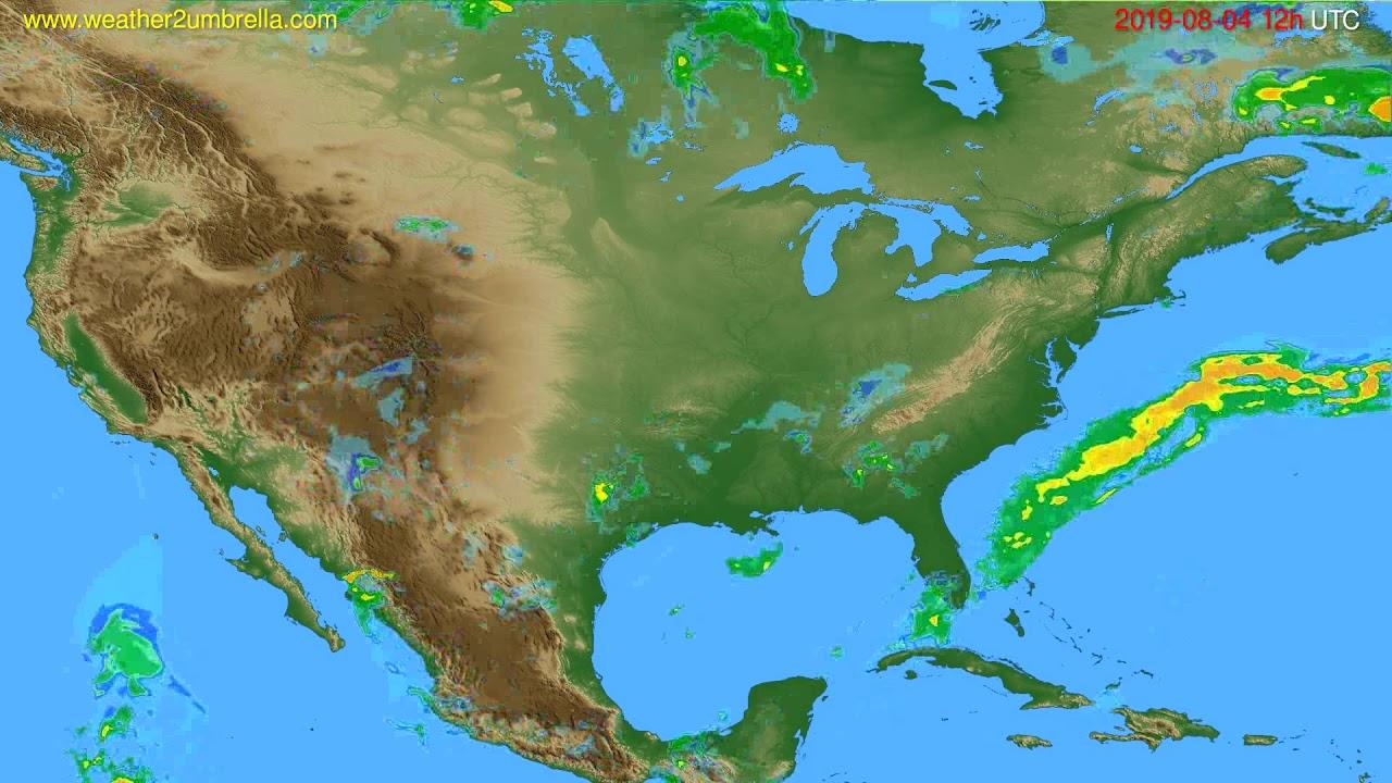 Radar forecast USA & Canada // modelrun: 00h UTC 2019-08-04