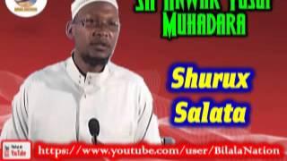 Sh Anwar  Yusuf Muhadara Shurux Salata
