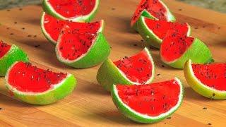 Watermeloen jelly shots