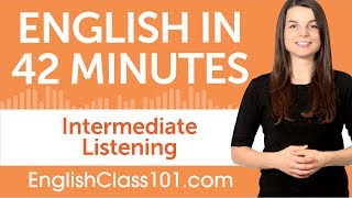This is the best video to get started with Intermediate English listening comprehension! Don't forget to create your free account here https://goo.gl/negdVm to access personalized lessons, tons of video series, wordlists and more! ↓Check how below↓Step 1: Go to https://goo.gl/negdVmStep 2: Sign up for a Free Lifetime Account - No money, No credit card requiredStep 3: Achieve Your Learning Goal and master English the fast, fun and easy way! In this video, you'll challenge your English listening comprehension skills. You will listen to small dialogues for Intermediate Level by English native speakers. This is THE place to start if you want to start learning English, and improve both your listening and speaking skills.Follow and write to us using hashtag #EnglishClass101 - Facebook : https://www.facebook.com/EnglishClass101 - Google Plus : https://plus.google.com/+EnglishClass101 - Twitter : https://twitter.com/EnglishClass101