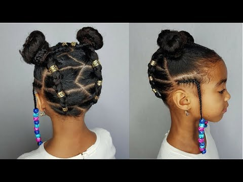 Braid hairstyles - Buns & Braids- Protective Hairstyles for Girls