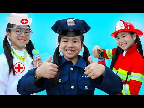 Jobs Career & Professions Song 2 | Jannie & Family Pretend Play Nursery Rhymes Kids Songs