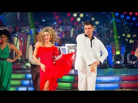 dancing - http://www.bbc.co.uk/strictly Abbey Clancy and Aljaz Skorjanec dance the Salsa to 'You Should Be Dancing'.