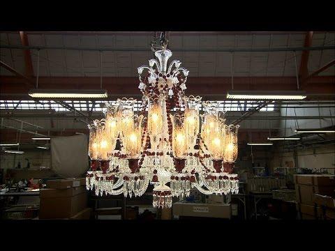 亮麗奢華的水晶燈大家都看過不少,但是沒想到連製作過程都會讓人感覺到奇妙無比!