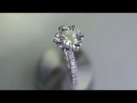 IDJ-5720 Solitaire engagement ring vs Pave diamond engagement ring-side by side comparison