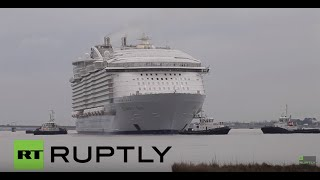 Saint-Nazaire France  city images : France: Largest passenger ship in the world launched in Saint Nazaire