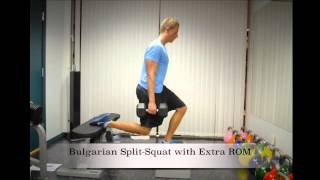 Exercise Index: Bulgarian Split-Squat with Extra ROM