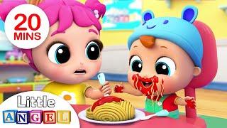 Video Yum Yum, Baby Loves Spaghetti | Nursery Rhymes & Kids Songs- Little Angel MP3, 3GP, MP4, WEBM, AVI, FLV April 2019