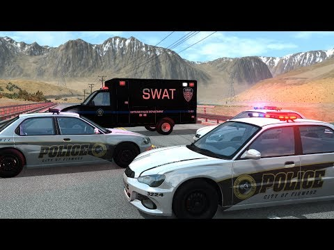 Police Roadblock Crashes 12 | BeamNG.drive