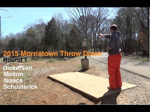 2015 Morristown Throw Down – Rd 1 – (Dickerson, Melton, Isaacs, Schusterick) Disc Golf