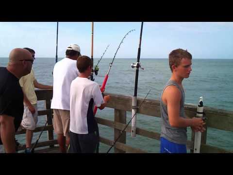 37 pound King Mackerel off Sea View Pier – North Topsail, NC