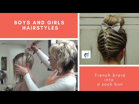 upside down french braid - We would like to introduce Rylie, RaDona's niece. Rylie wore her hair in this hairstyle to cheer at a high school game and we loved it, so we invited her to ...