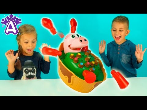 Игры для детей Свинья хохочет в джакузи Друзяки Новые серии 2016! Детские видео и игры для детей (видео)