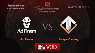 Ad Finem vs Escape, game 1